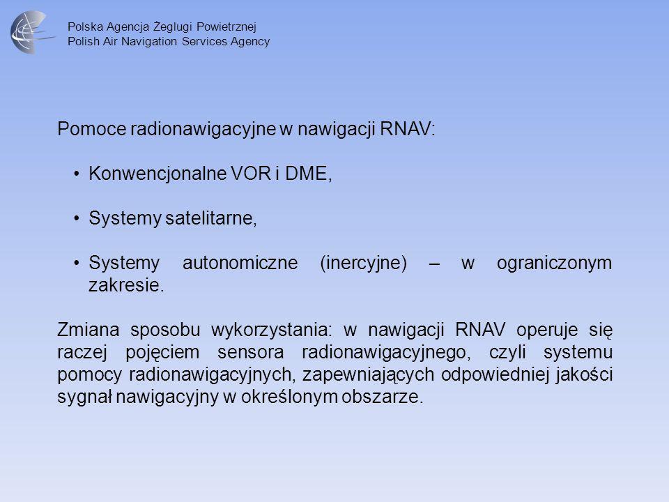 Pomoce radionawigacyjne w nawigacji RNAV: Konwencjonalne VOR i DME,
