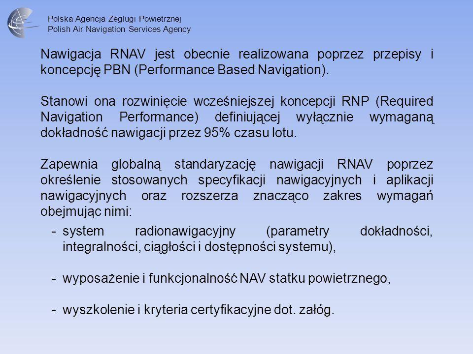 Nawigacja RNAV jest obecnie realizowana poprzez przepisy i koncepcję PBN (Performance Based Navigation).