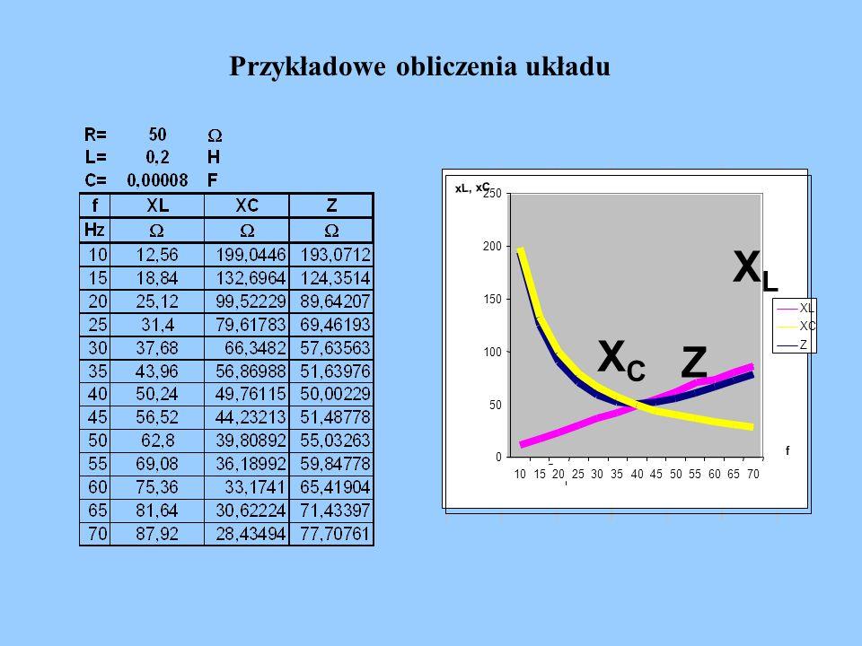 Przykładowe obliczenia układu