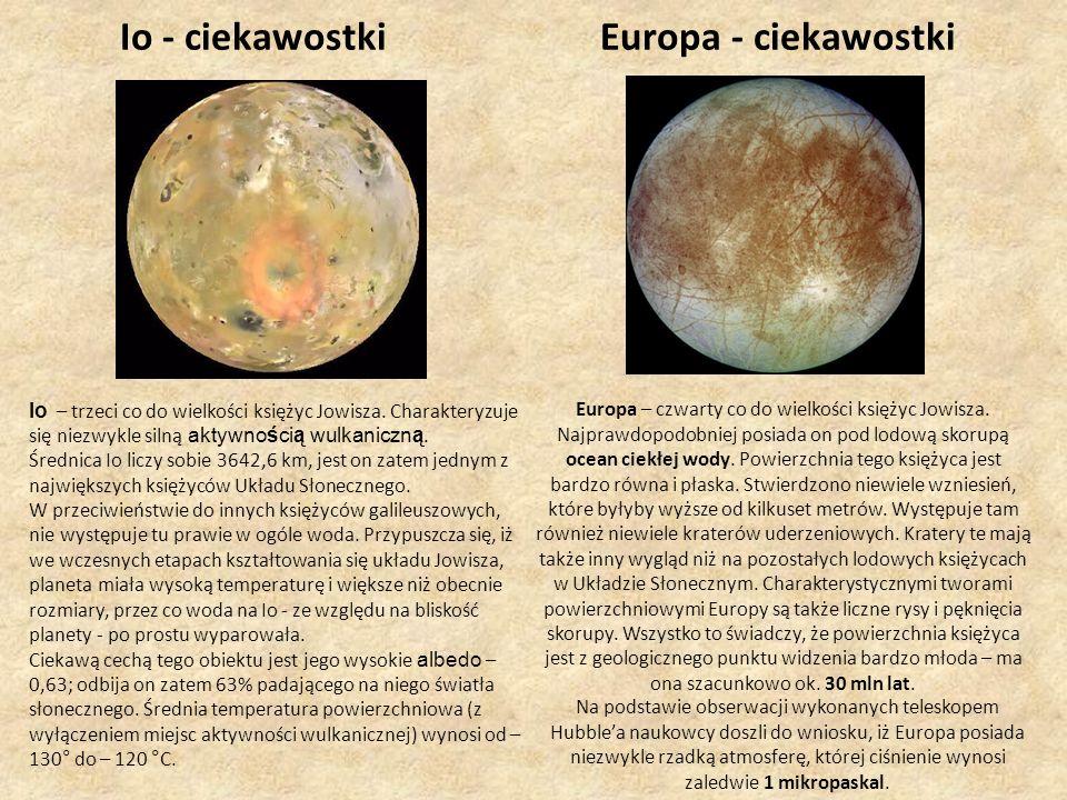 Io - ciekawostki Europa - ciekawostki