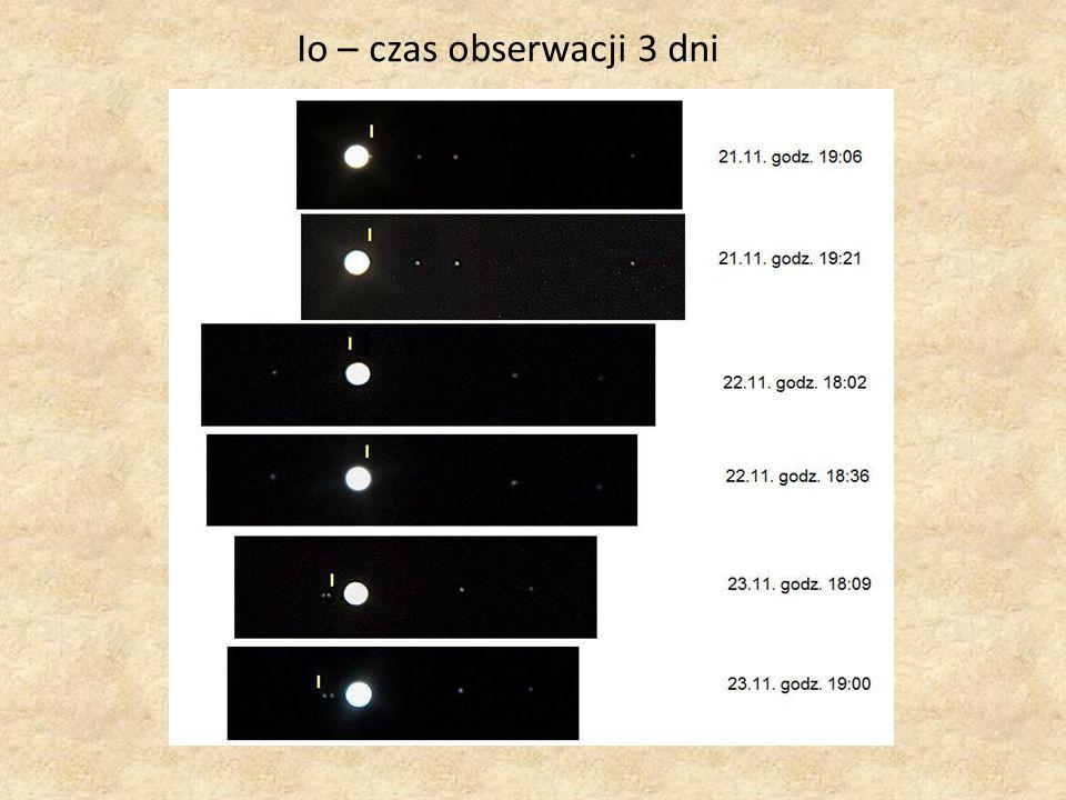 Io – czas obserwacji 3 dni
