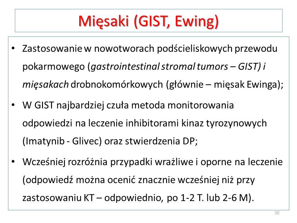 Mięsaki (GIST, Ewing)
