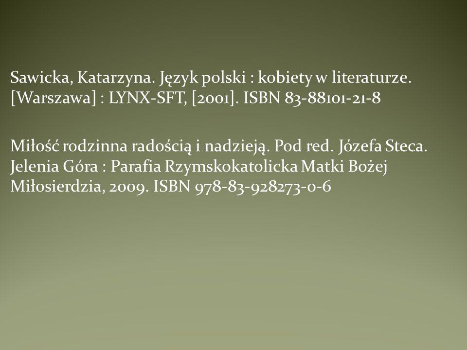 Sawicka, Katarzyna. Język polski : kobiety w literaturze