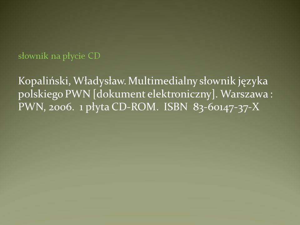 słownik na płycie CD