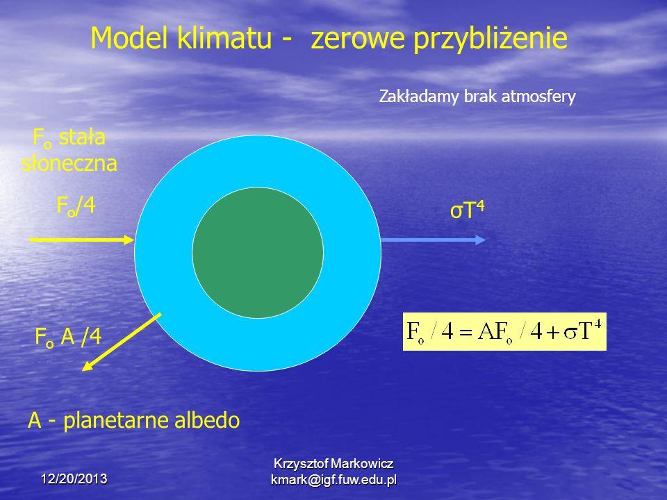 Model klimatu - zerowe przybliżenie