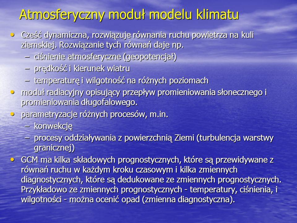 Atmosferyczny moduł modelu klimatu