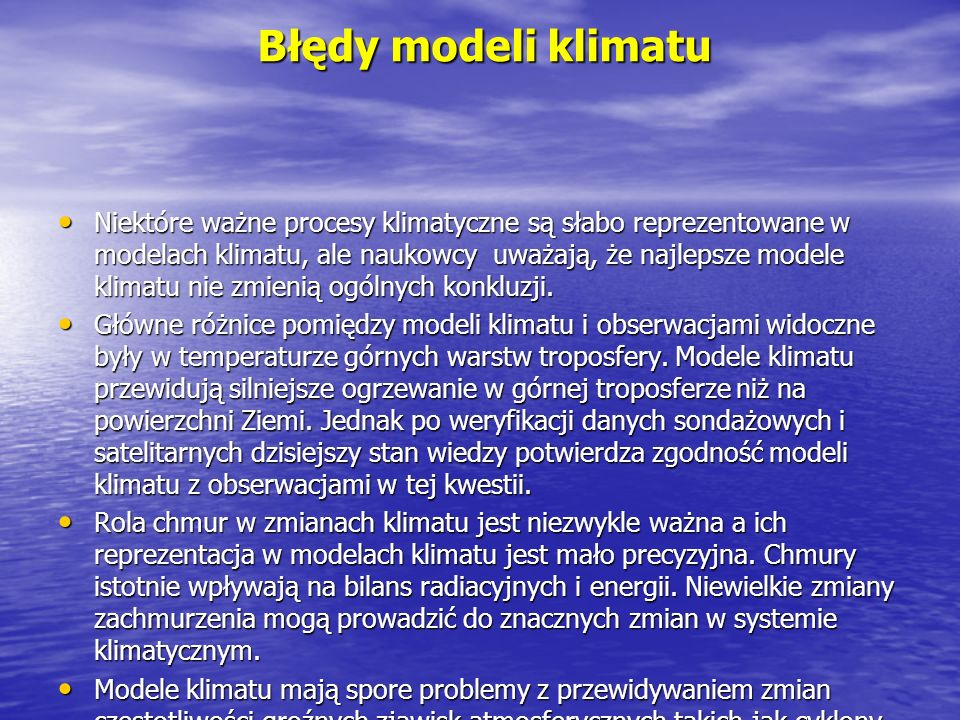 Błędy modeli klimatu