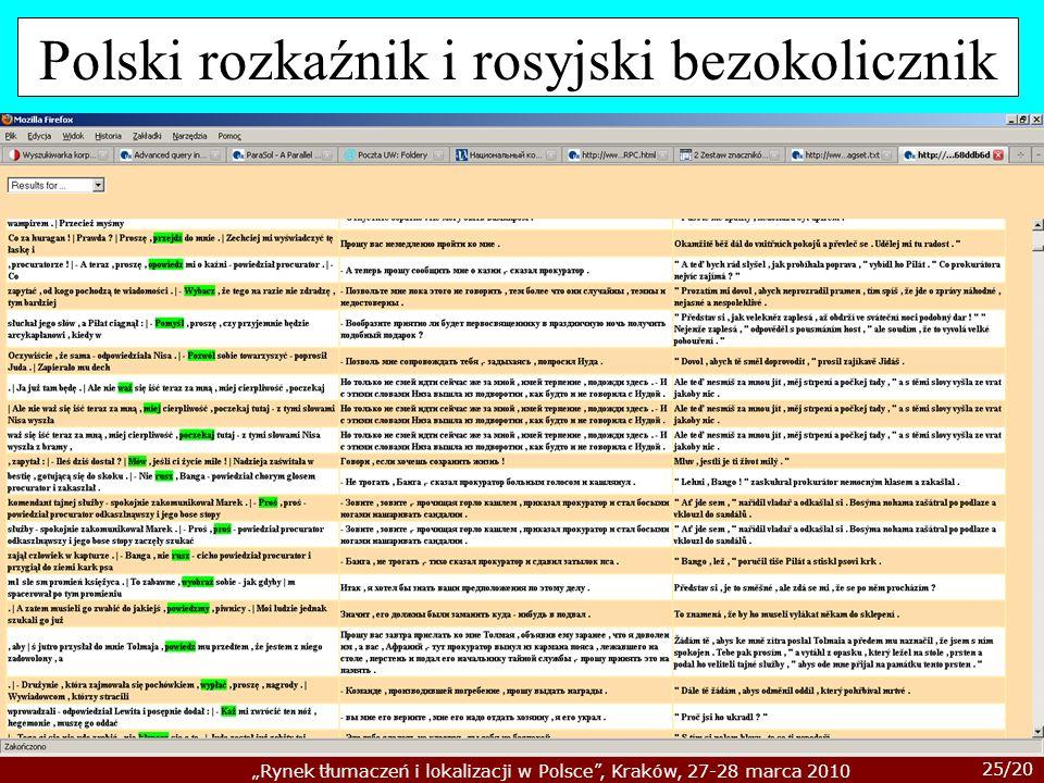 Polski rozkaźnik i rosyjski bezokolicznik
