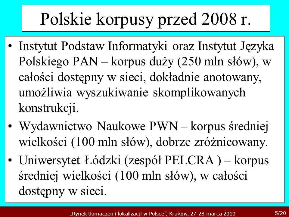 Polskie korpusy przed 2008 r.