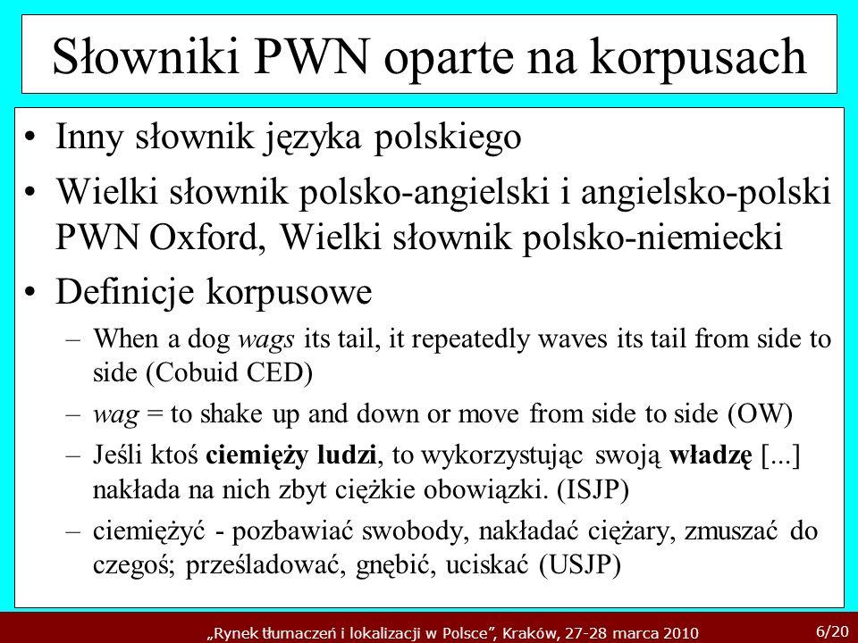 Słowniki PWN oparte na korpusach