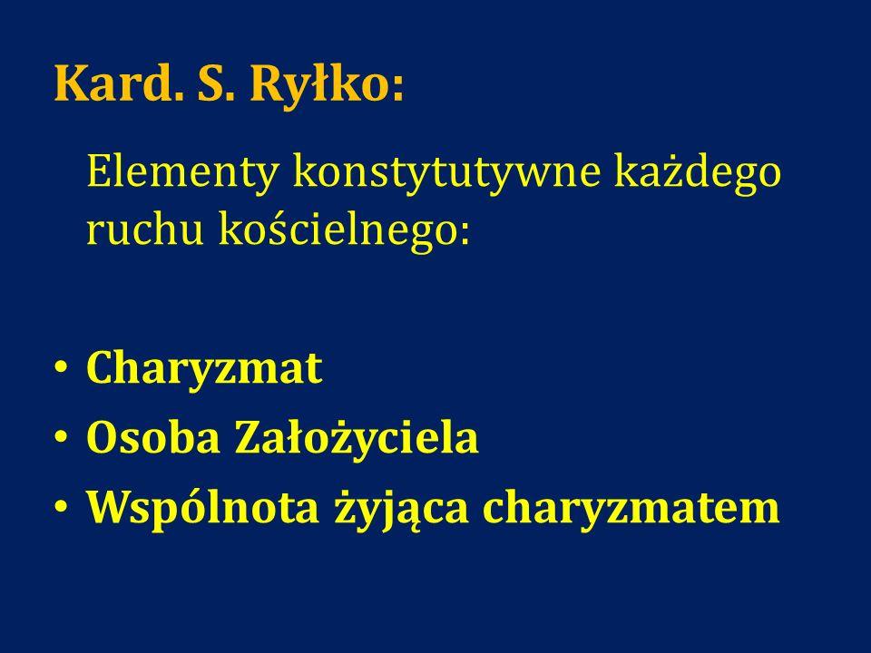 Kard. S. Ryłko: Charyzmat Osoba Założyciela