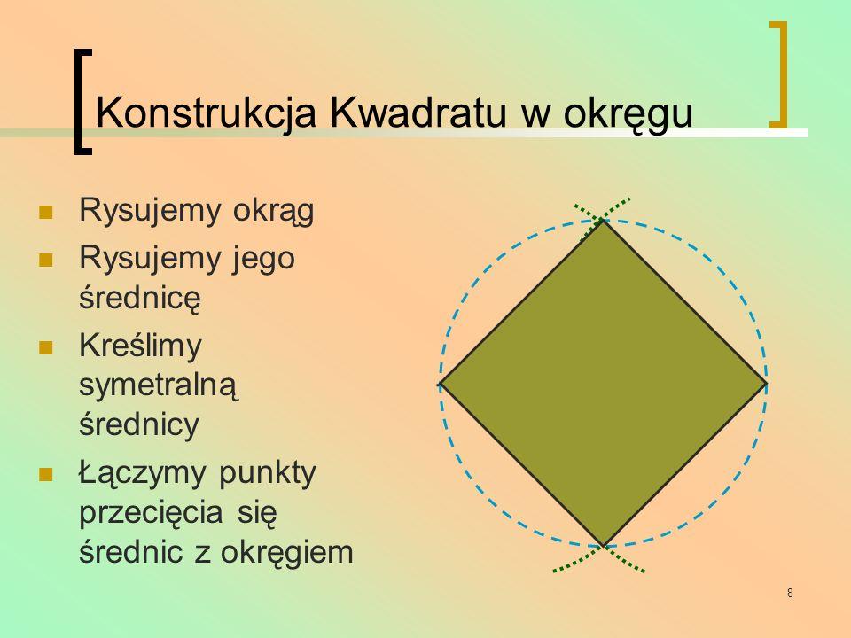 Konstrukcja Kwadratu w okręgu