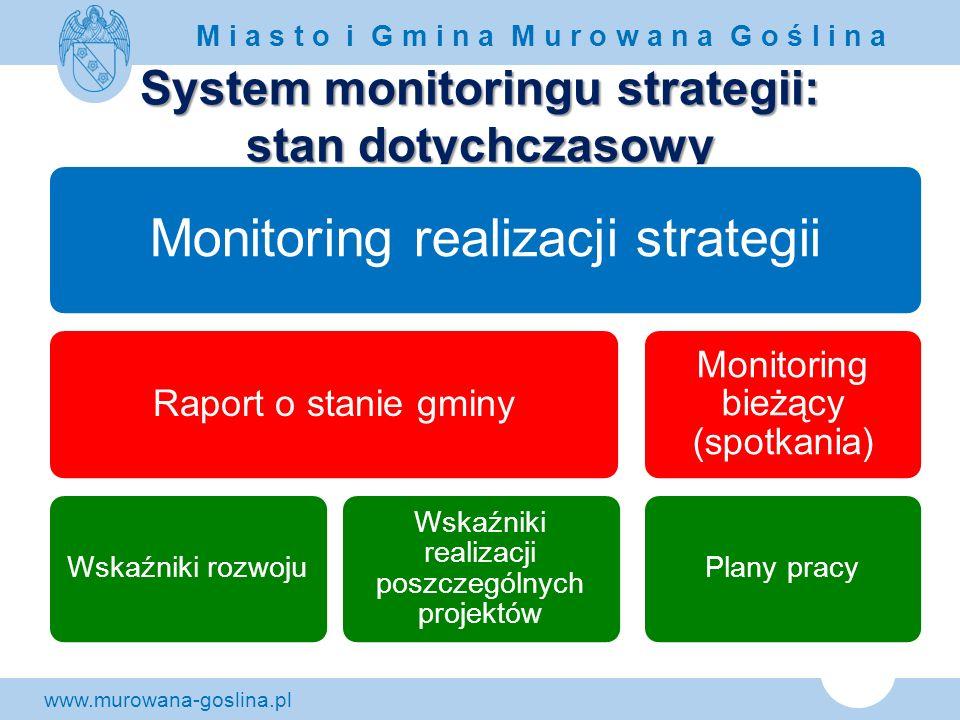 System monitoringu strategii: stan dotychczasowy
