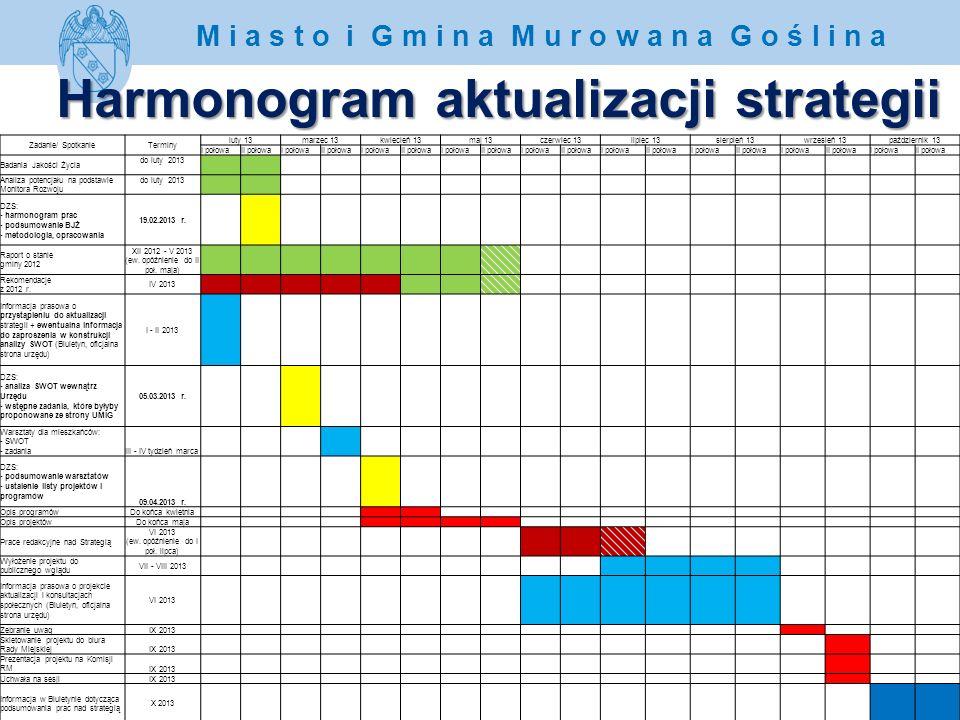 Harmonogram aktualizacji strategii