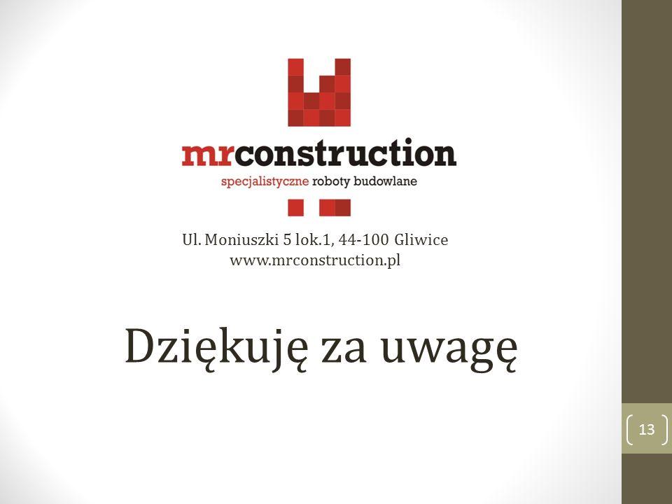 Ul. Moniuszki 5 lok.1, 44-100 Gliwice