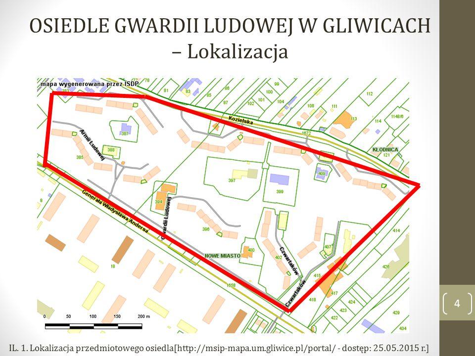 OSIEDLE GWARDII LUDOWEJ W GLIWICACH – Lokalizacja