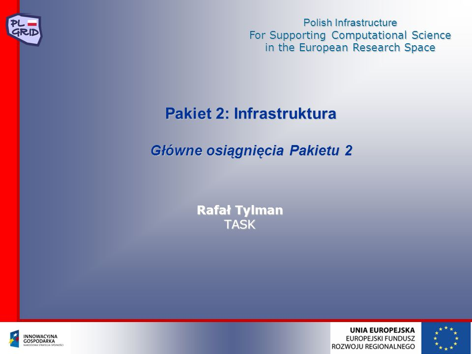 Pakiet 2: Infrastruktura Główne osiągnięcia Pakietu 2