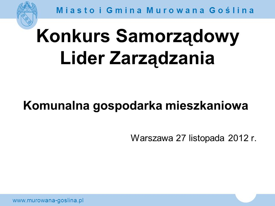 Konkurs Samorządowy Lider Zarządzania