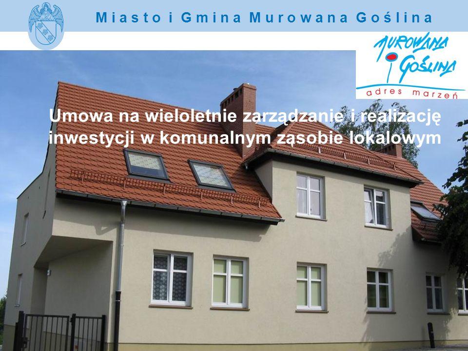 Umowa na wieloletnie zarządzanie i realizację inwestycji w komunalnym zasobie lokalowym