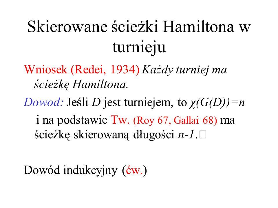 Skierowane ścieżki Hamiltona w turnieju