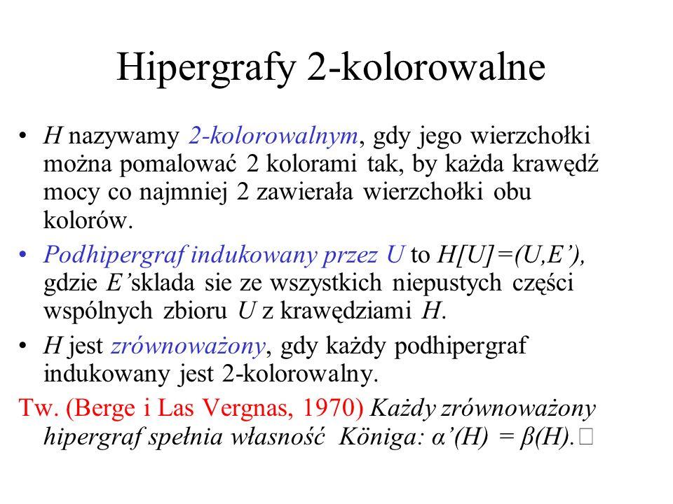 Hipergrafy 2-kolorowalne