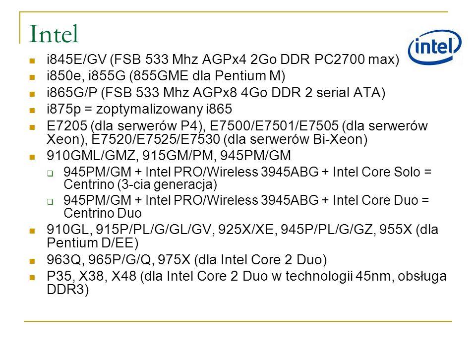 Intel i845E/GV (FSB 533 Mhz AGPx4 2Go DDR PC2700 max)