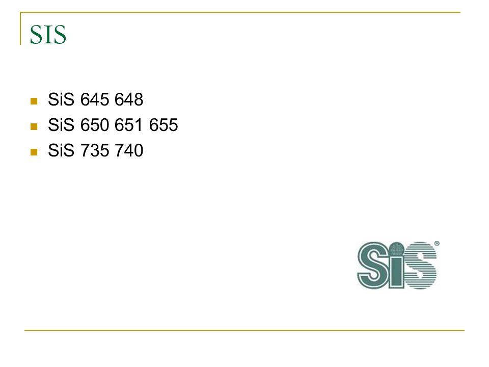 SIS SiS 645 648 SiS 650 651 655 SiS 735 740