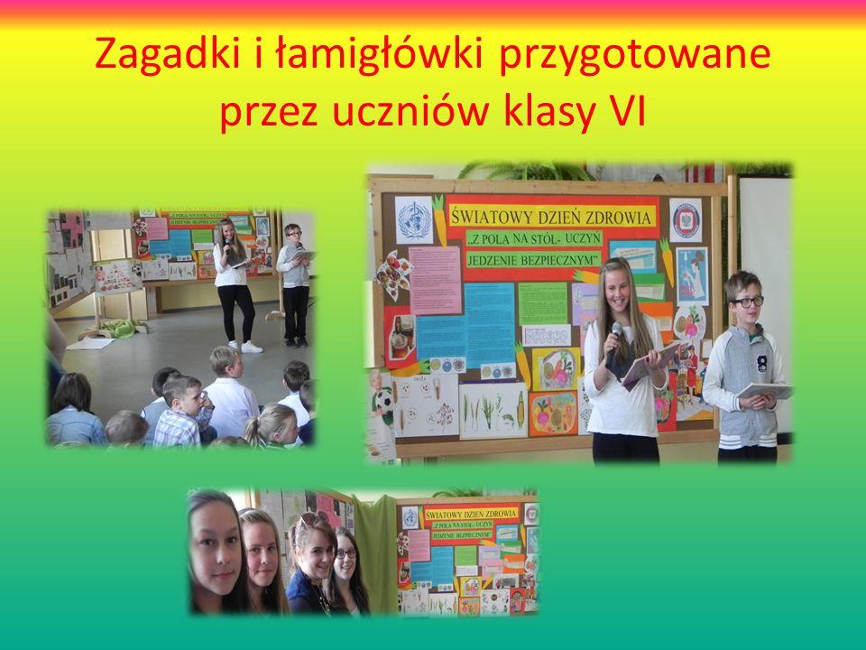 Zagadki i łamigłówki przygotowane przez uczniów klasy VI