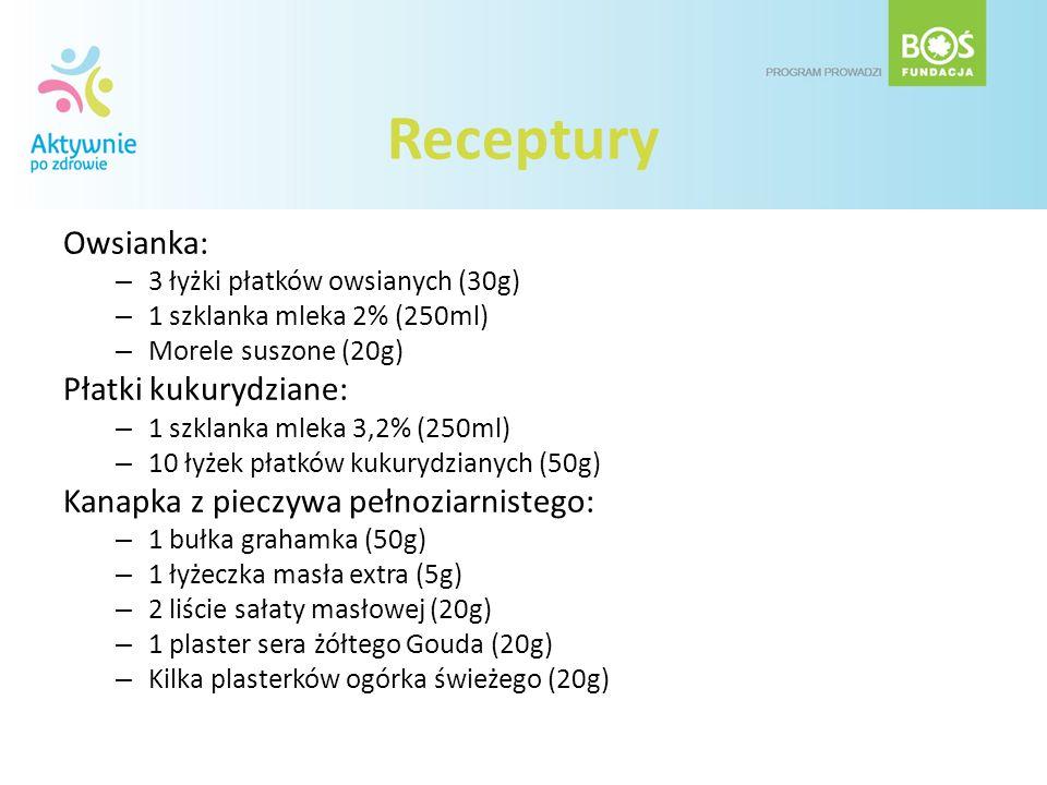 Receptury Owsianka: Płatki kukurydziane: