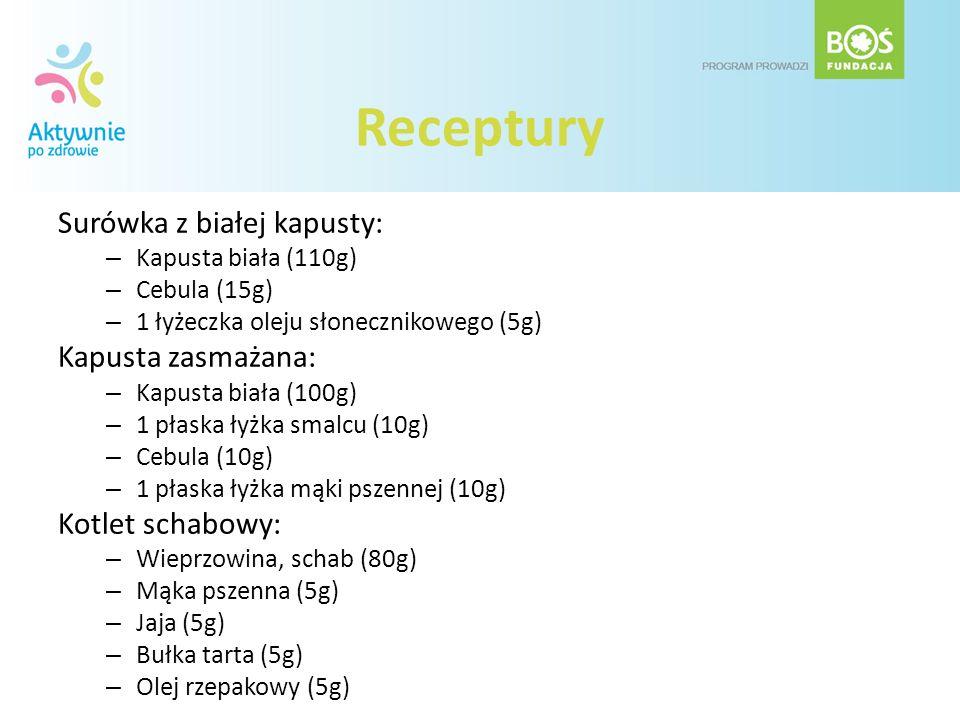Receptury Surówka z białej kapusty: Kapusta zasmażana: