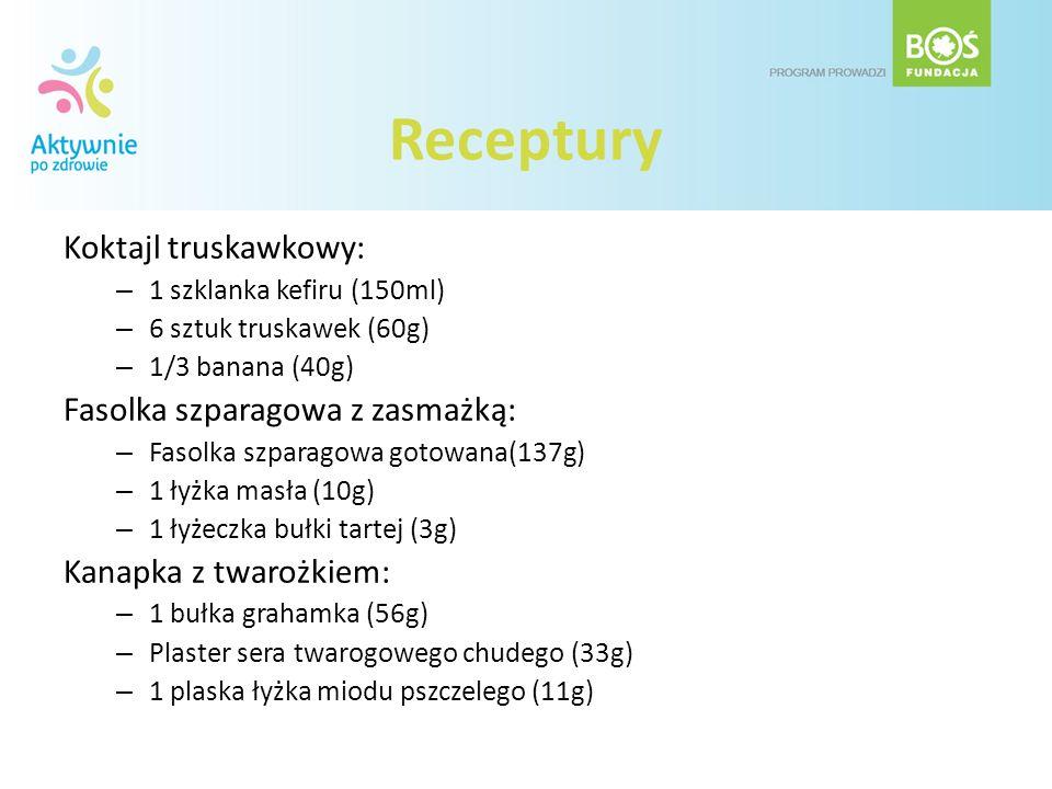 Receptury Koktajl truskawkowy: Fasolka szparagowa z zasmażką: