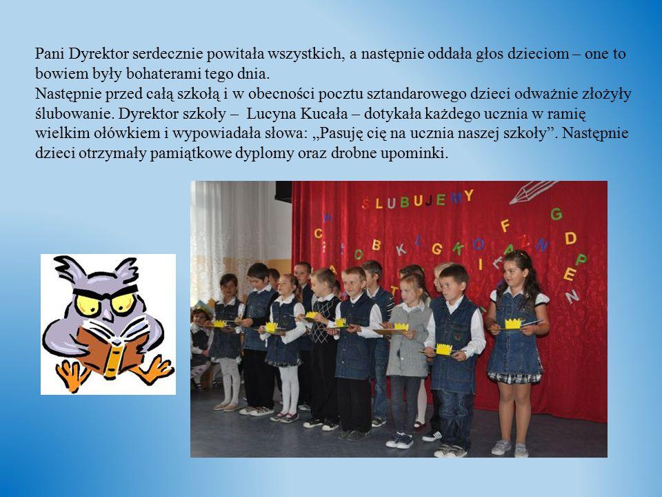 Pani Dyrektor serdecznie powitała wszystkich, a następnie oddała głos dzieciom – one to bowiem były bohaterami tego dnia.