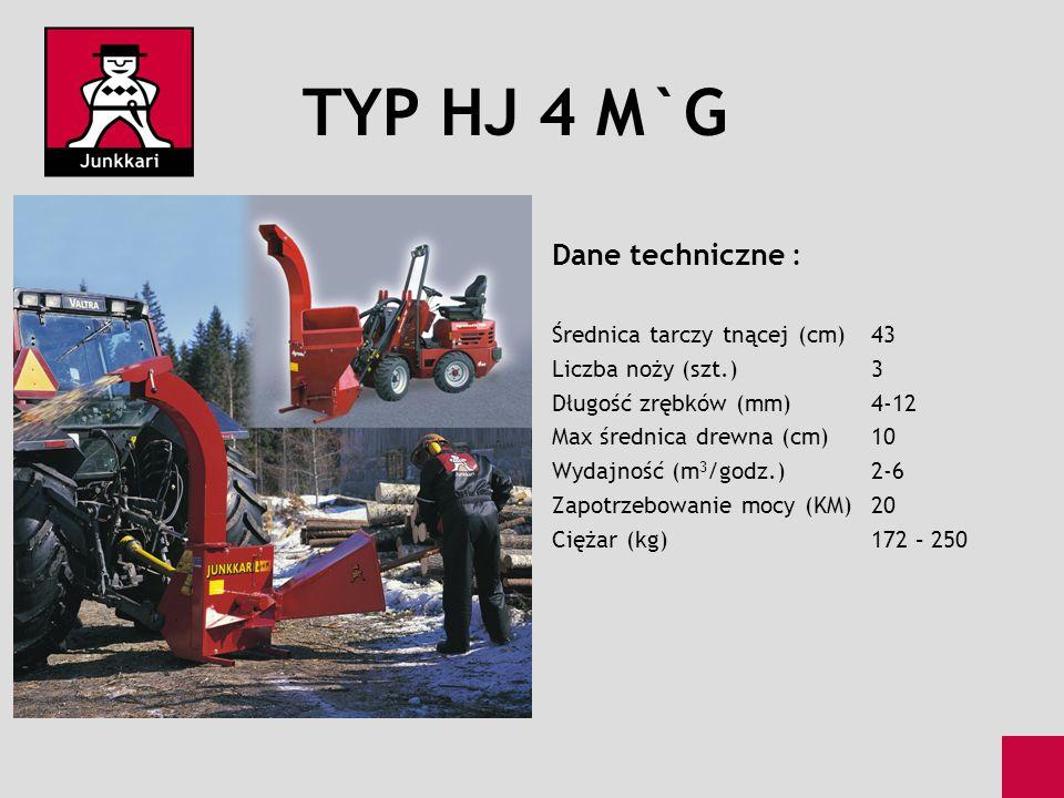 TYP HJ 4 M`G Dane techniczne : Średnica tarczy tnącej (cm) 43