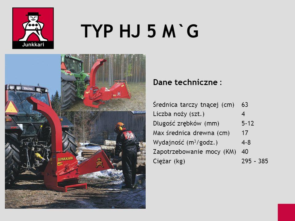 TYP HJ 5 M`G Dane techniczne : Średnica tarczy tnącej (cm) 63