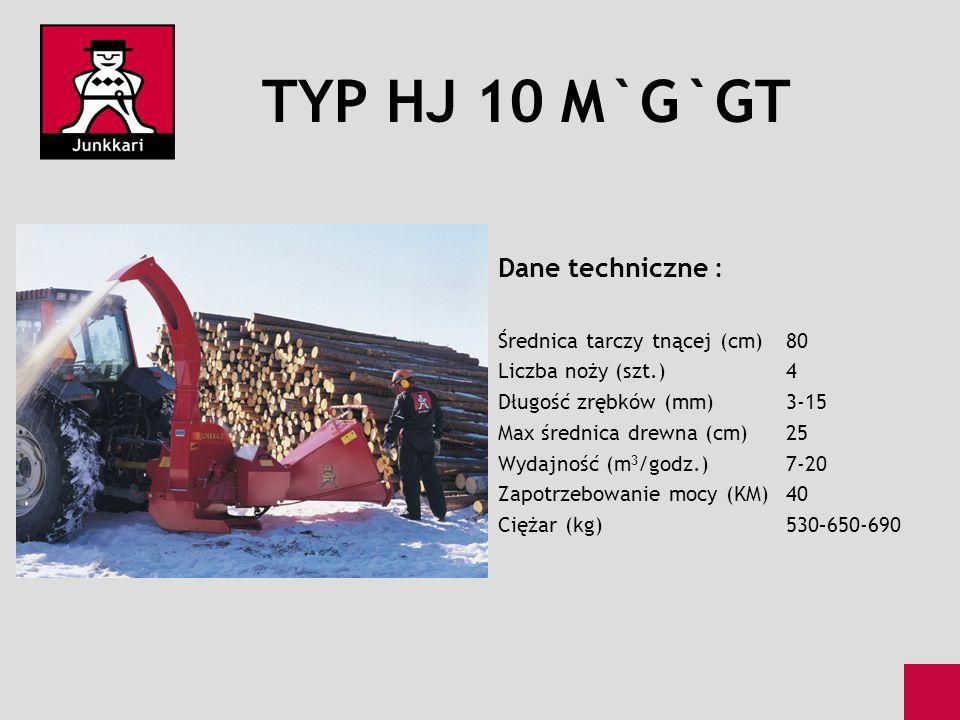 TYP HJ 10 M`G`GT Dane techniczne : Średnica tarczy tnącej (cm) 80
