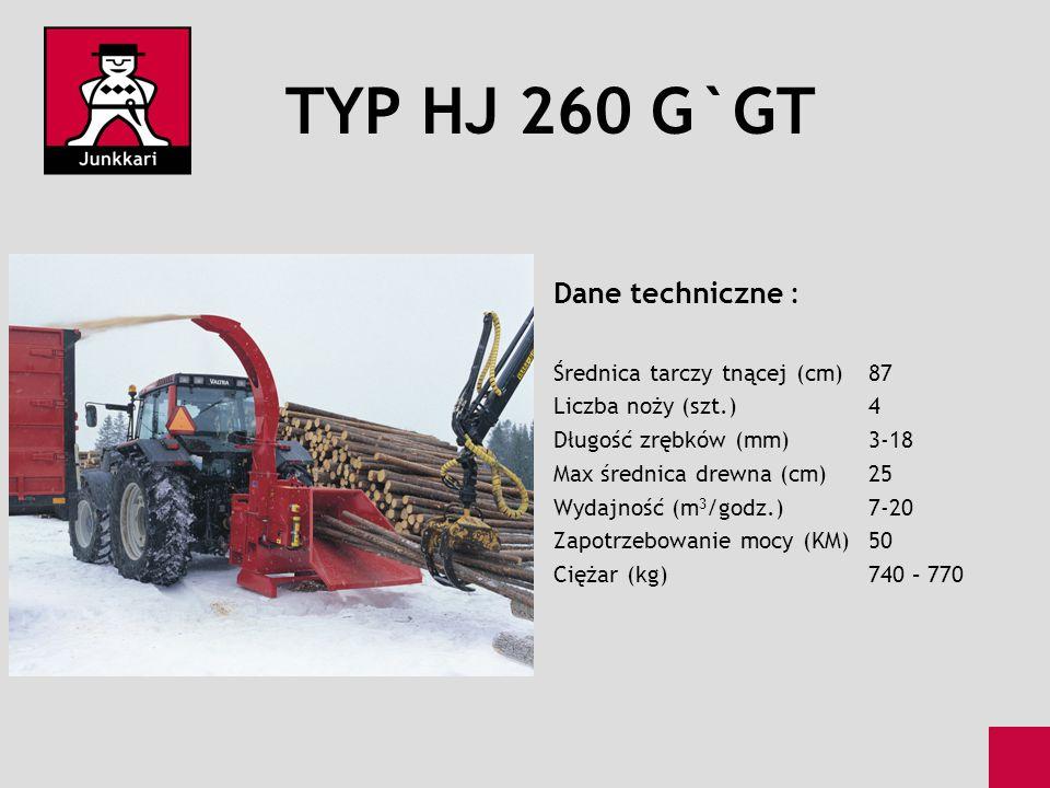 TYP HJ 260 G`GT Dane techniczne : Średnica tarczy tnącej (cm) 87