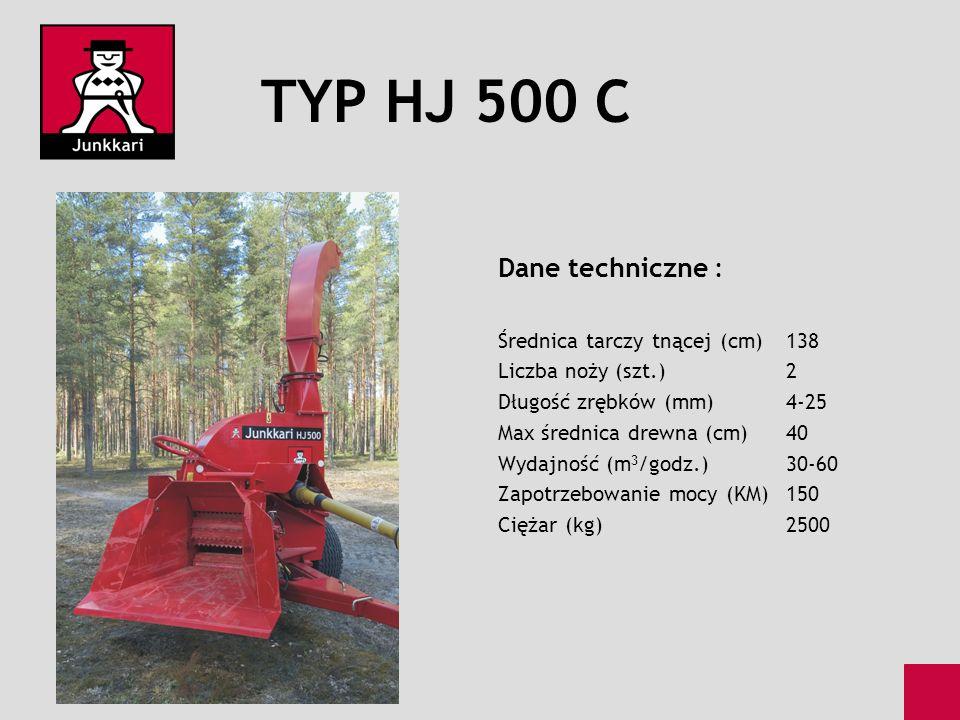 TYP HJ 500 C Dane techniczne : Średnica tarczy tnącej (cm) 138