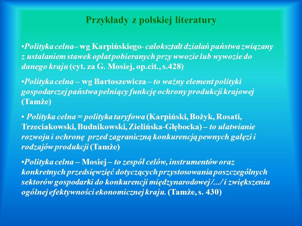 Przykłady z polskiej literatury