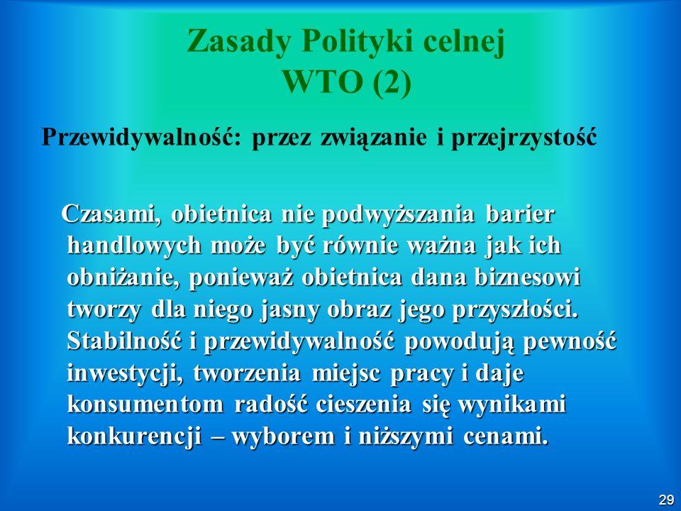 Zasady Polityki celnej WTO (2)