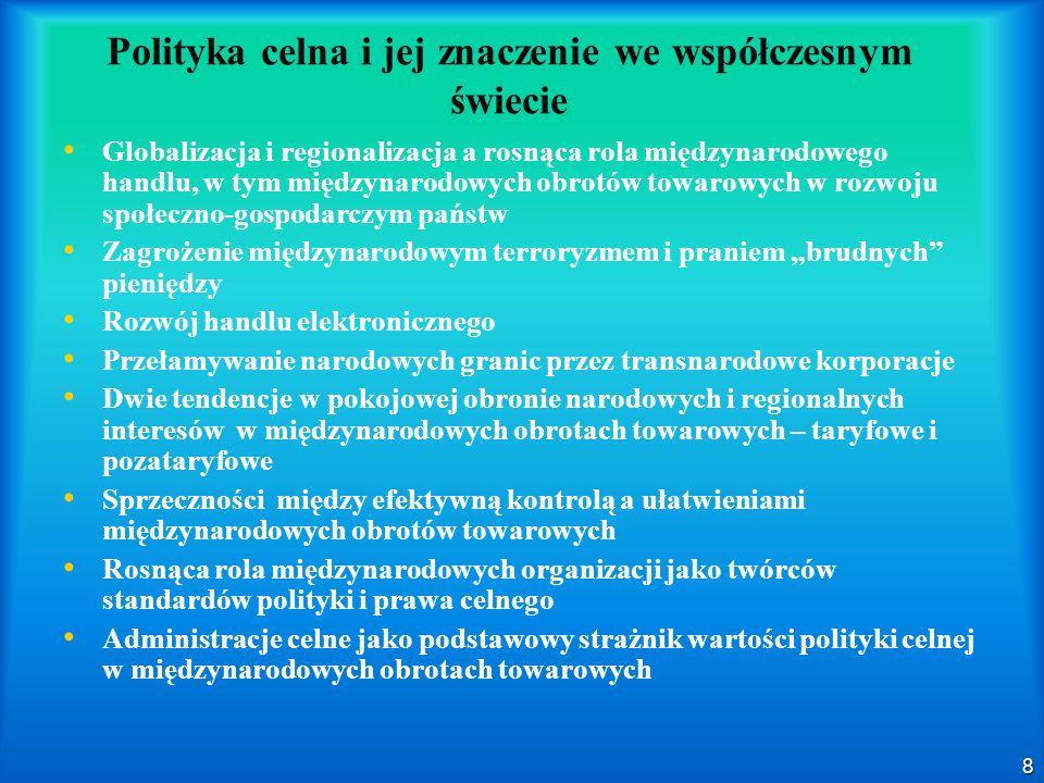 Polityka celna i jej znaczenie we współczesnym świecie