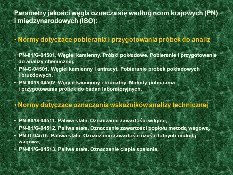 Normy dotyczące pobierania i przygotowania próbek do analiz