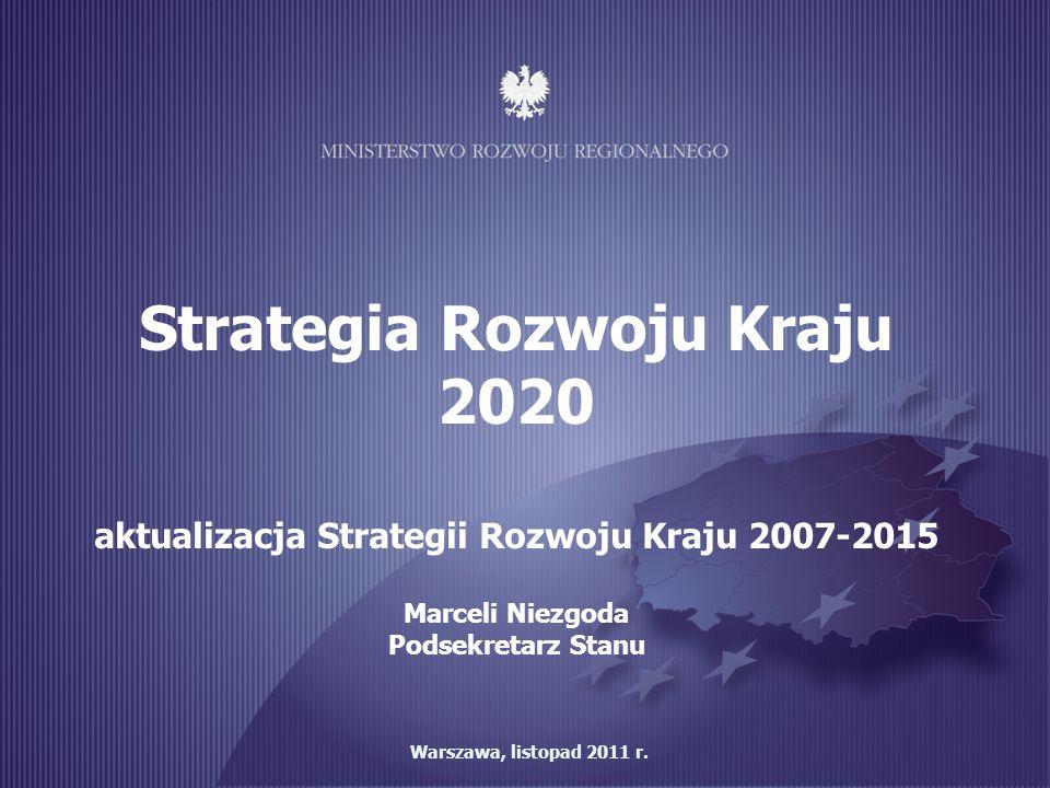 Strategia Rozwoju Kraju aktualizacja Strategii Rozwoju Kraju 2007-2015