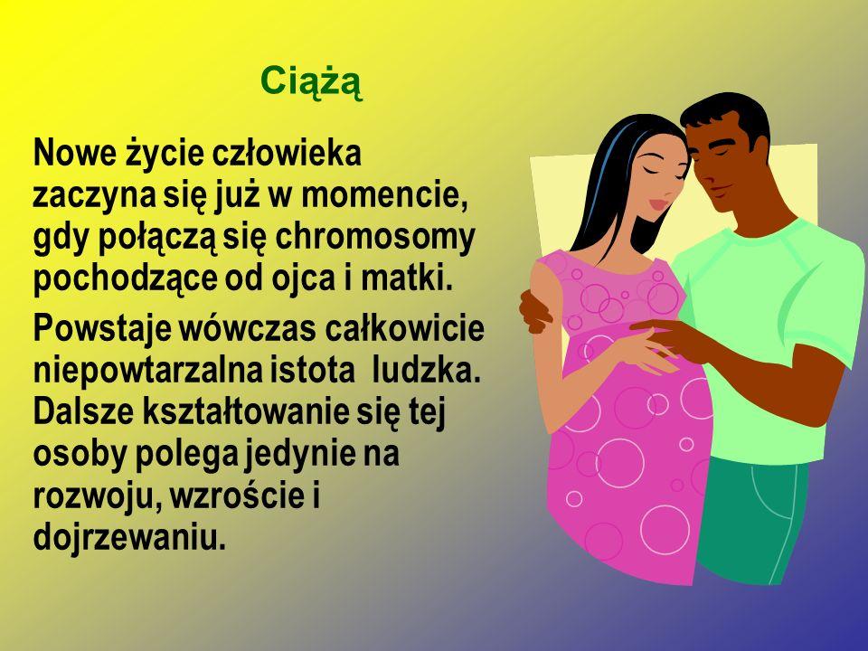 Ciążą Nowe życie człowieka zaczyna się już w momencie, gdy połączą się chromosomy pochodzące od ojca i matki.