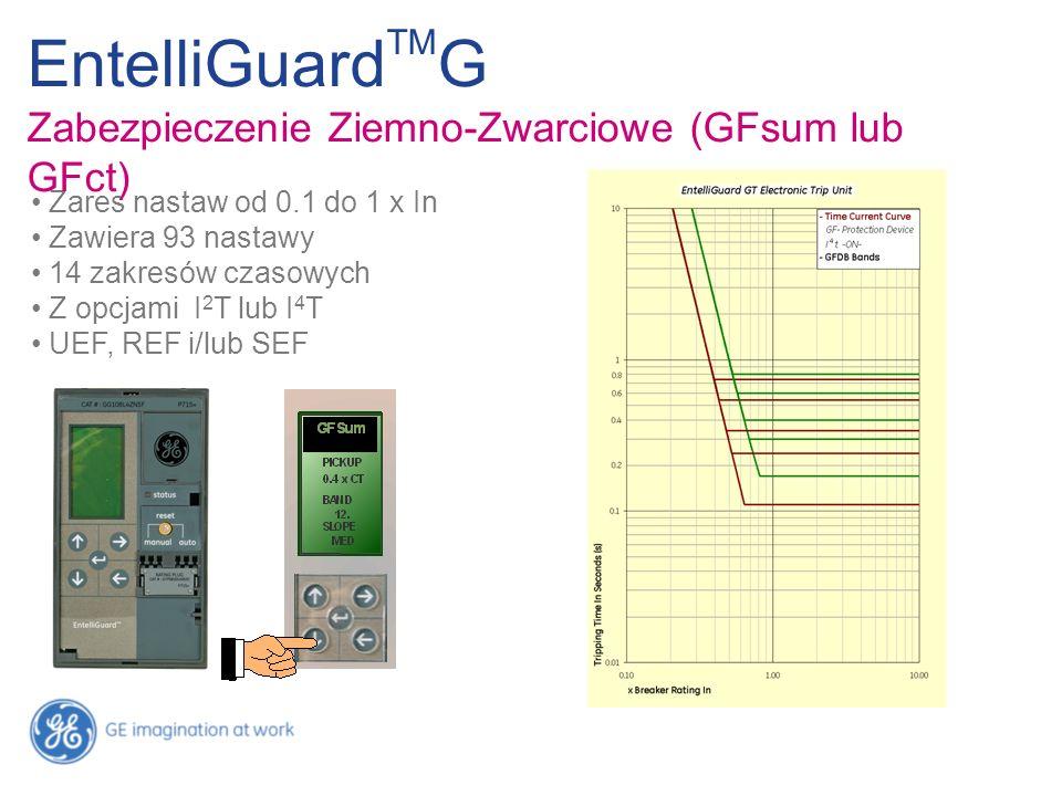 EntelliGuardTMG Zabezpieczenie Ziemno-Zwarciowe (GFsum lub GFct)