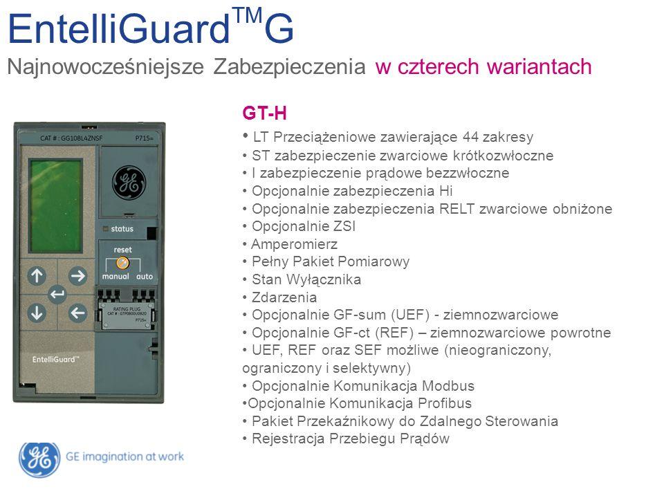 EntelliGuardTMG Najnowocześniejsze Zabezpieczenia w czterech wariantach. GT-E. LT z 22 zakresami.