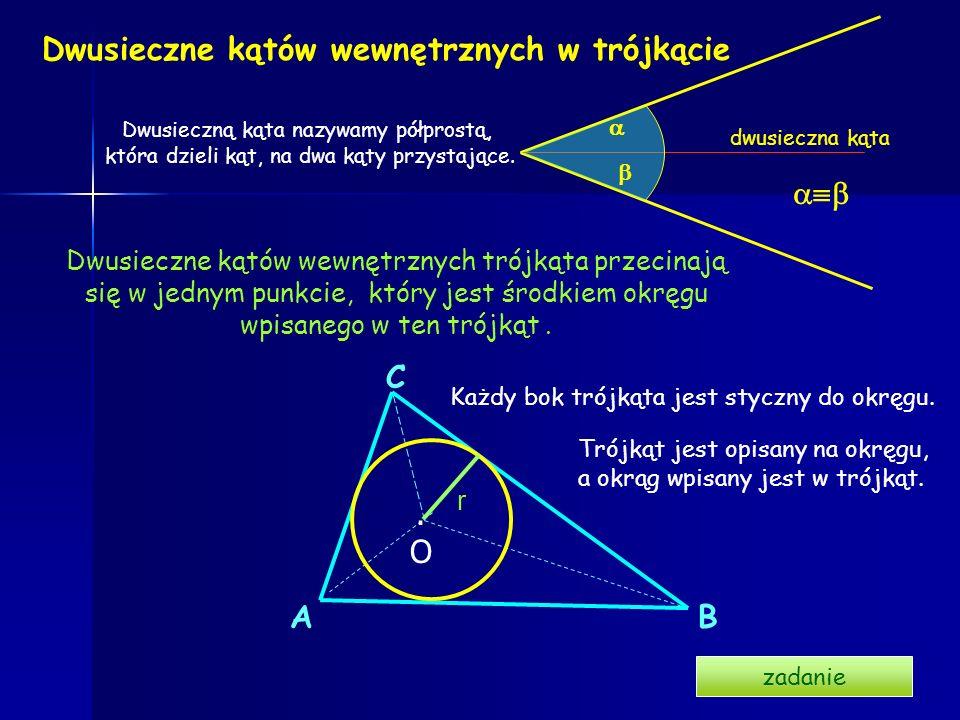 Dwusieczne kątów wewnętrznych w trójkącie