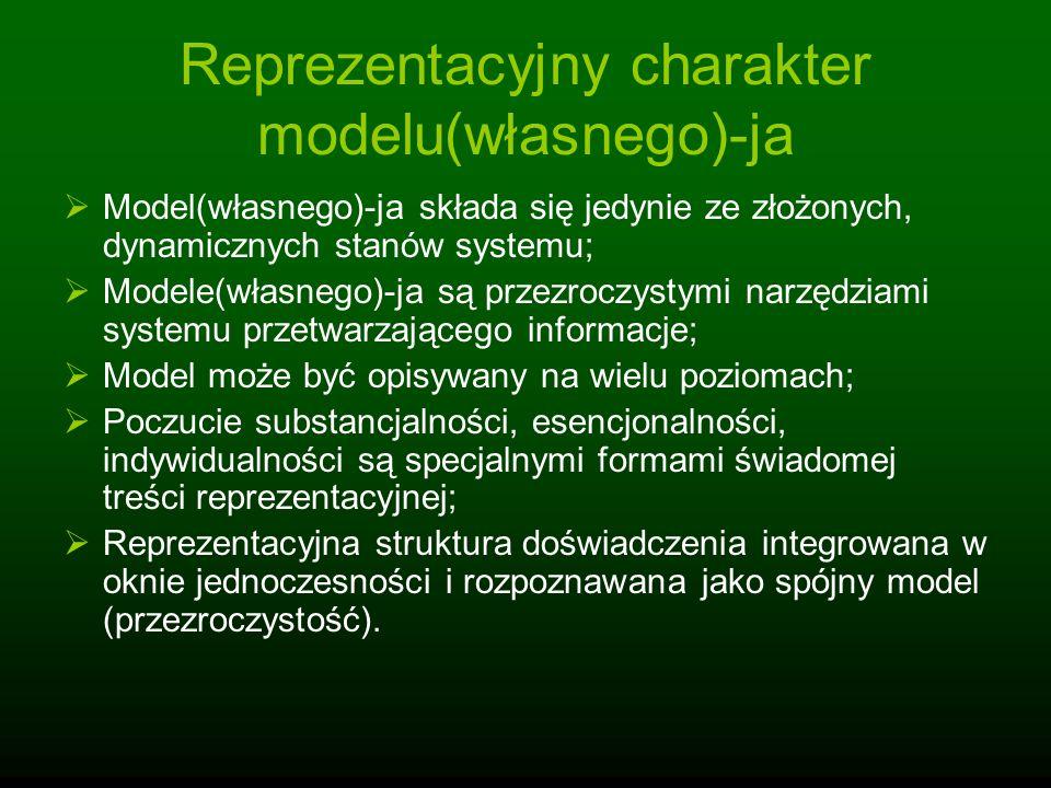 Reprezentacyjny charakter modelu(własnego)-ja