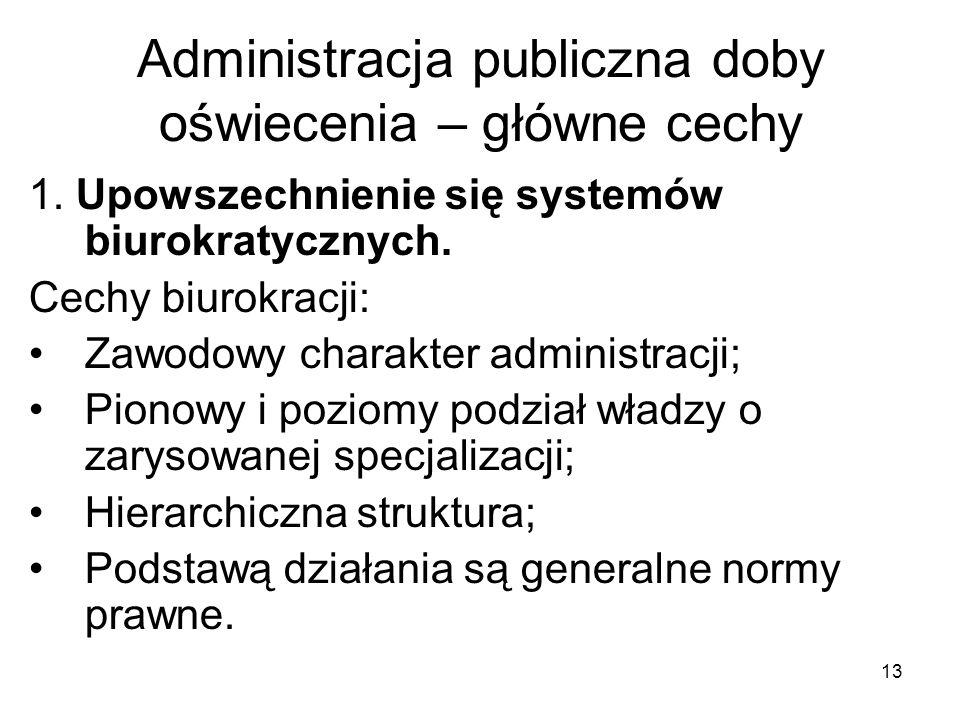 Administracja publiczna doby oświecenia – główne cechy