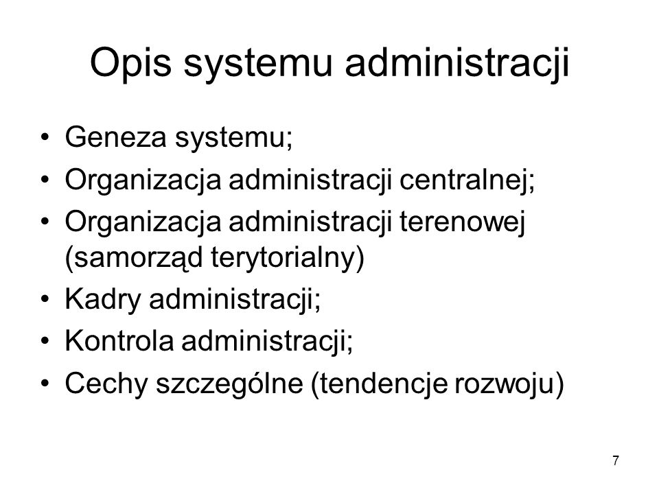 Opis systemu administracji