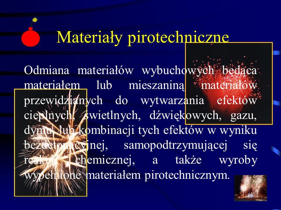 Materiały pirotechniczne